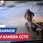 AKSI PENCURIAN SEPEDA MOTOR TEREKAM KAMERA PENGAWAS