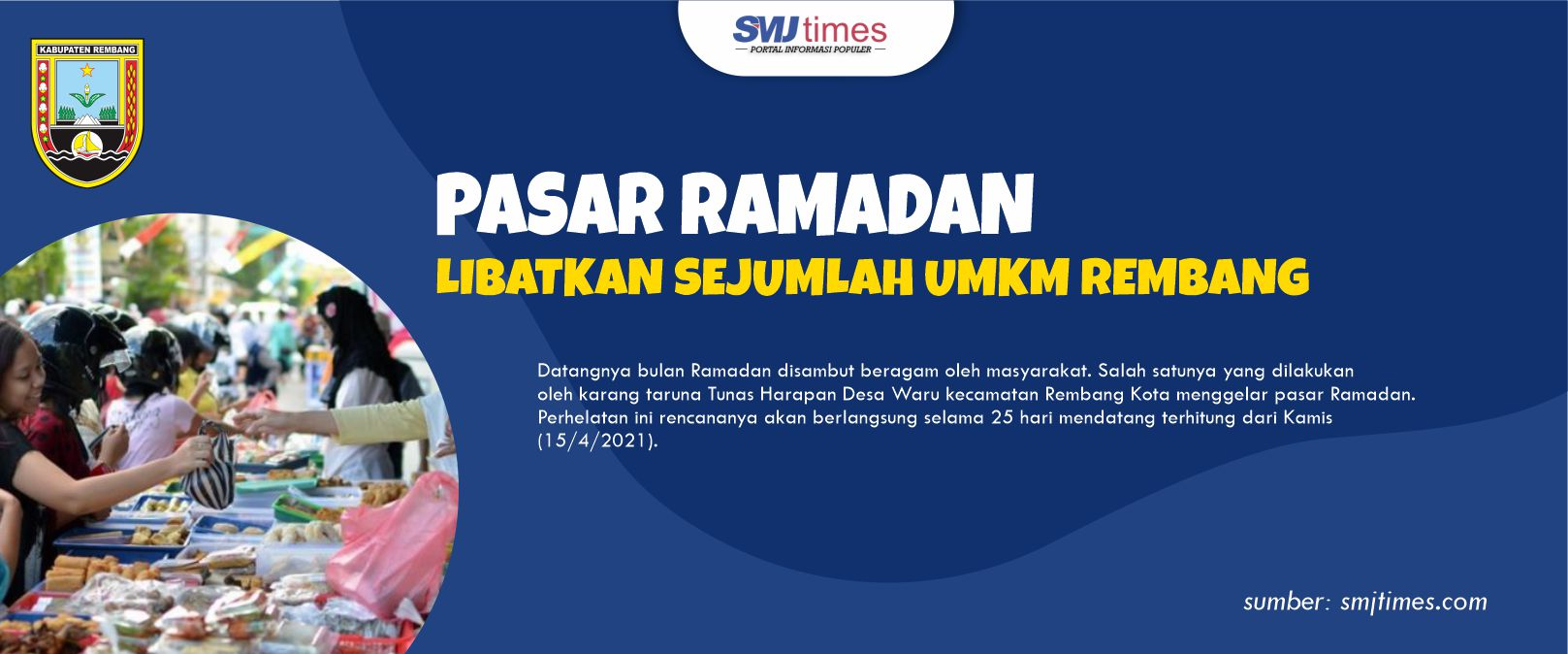Pasar Ramadan Libatkan Sejumlah UMKM Rembang 1