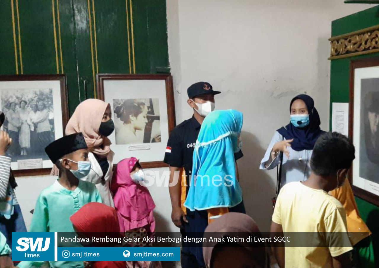 pandawa rembang gelar aksi berbagi dnegan anak yatin di event sgcc