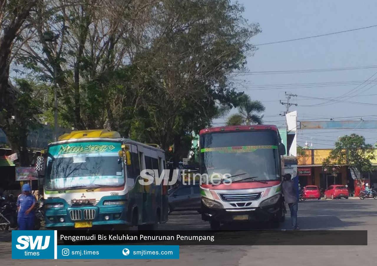 pengemudi bis keluhkan penurunan penumpang