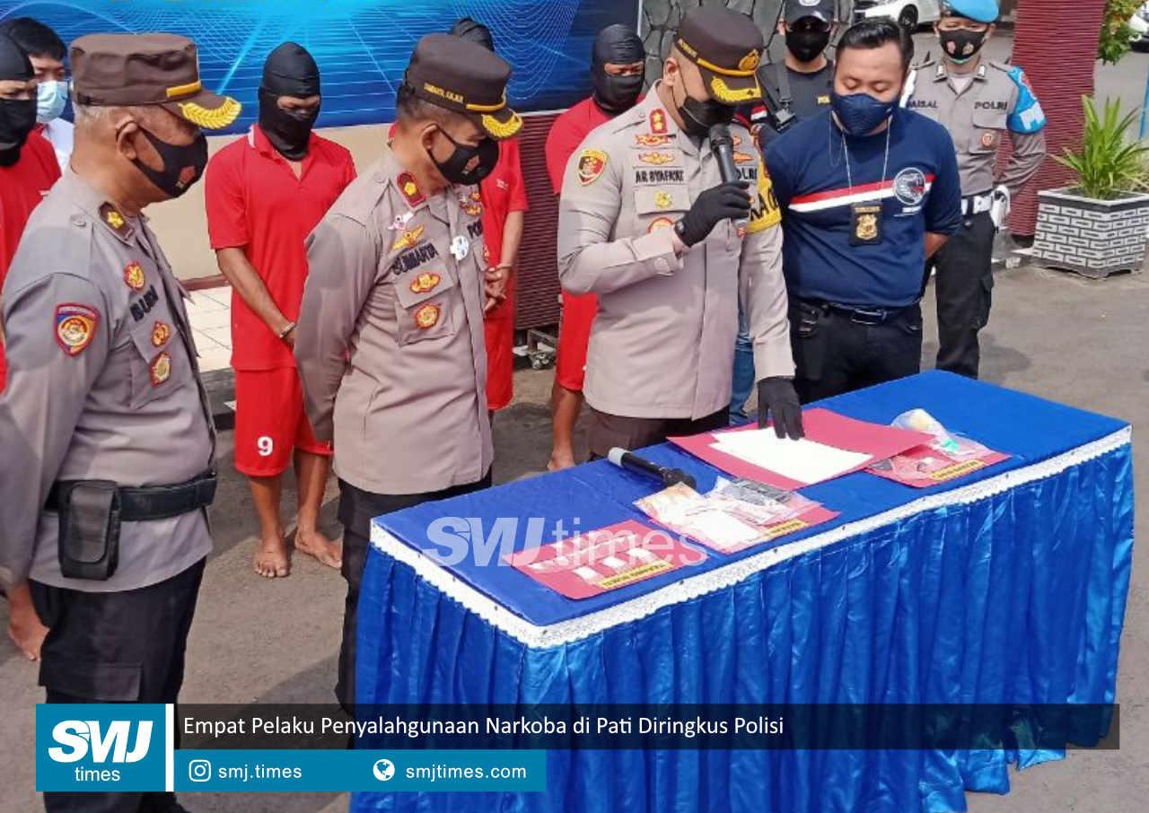 empat pelaku penyalahgunaan narkoba di pati diringkus polisi