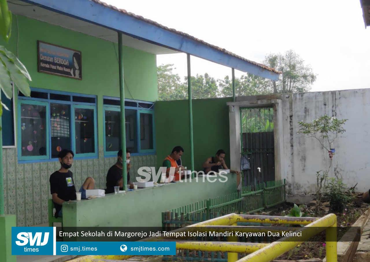 empat sekolah di margorejo jadi tempat isolasi mandiri karyawan dua kelinci
