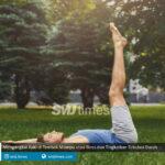 mengangkat kaki di tembok mampu atasi stres dan tingkatkan sirkulasi darah