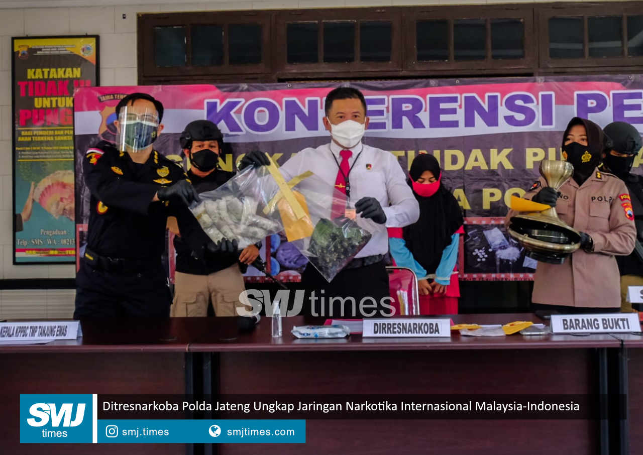 ditresnarkoba polda jateng ungkap jaringan narkotika internasional malaysia indonesia