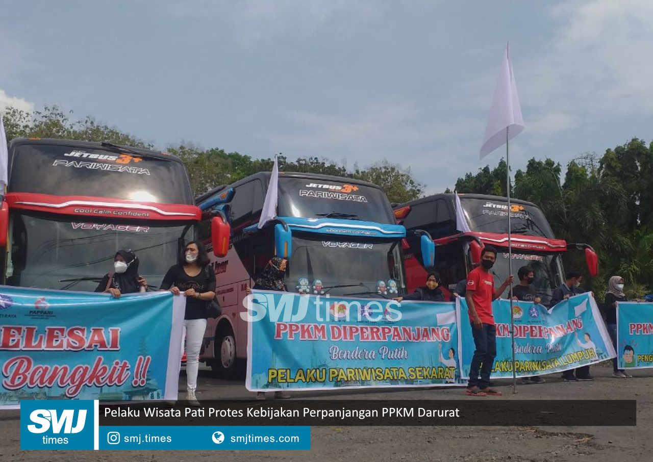 pelaku wisata pati protes kebijakan perpanjangan ppkm darurat
