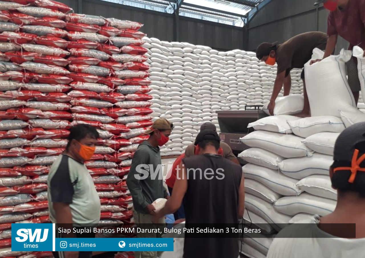 siap suplai bansos ppkm darurat bulog pati sediakan 3 ton beras