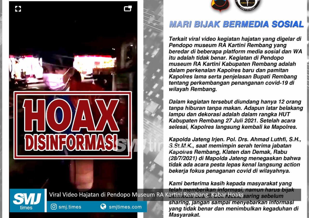viral video hajatan di pendopo museum ra kartini rembang kabar hoaks