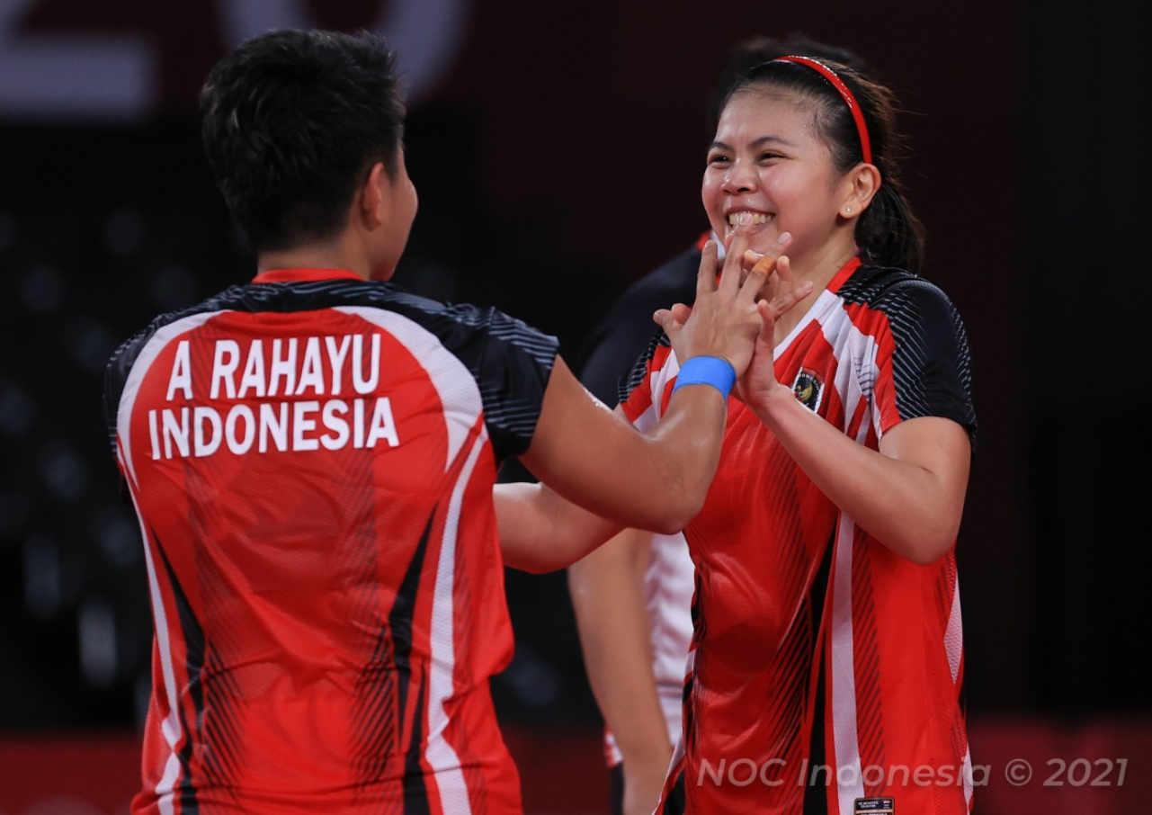 ganda putri indonesia peroleh medali emas cabor bulutangkis olimpiade