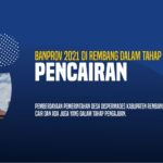 Banprov 2021 di Rembang Dalam Tahap Pencairan 1